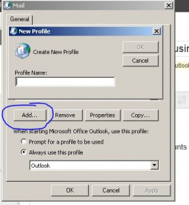 Outlook Profile Name