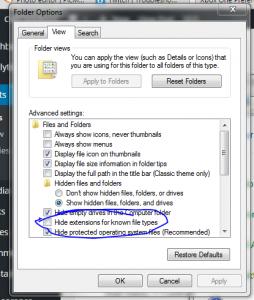 Folder Options - Hide File