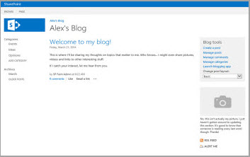 SharePoint Blog Homepage